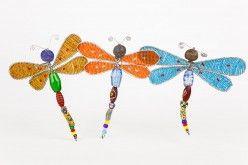 Beaded Glass Dragonflies www.wildhope.ca $12.00