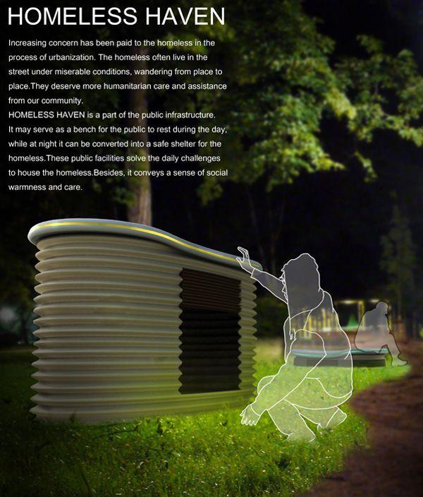 Homeless Haven – Street Furniture by Ke Wan, Xiaohua Ma, Xing Guo & Qingxiang Zhu