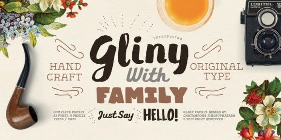 Gliny (70% discount, from 10,20€)   https://fontsdiscounts.com/gliny-70-discount-1110e