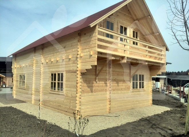 A twin skin fully insulated 2 storey cabin Langon