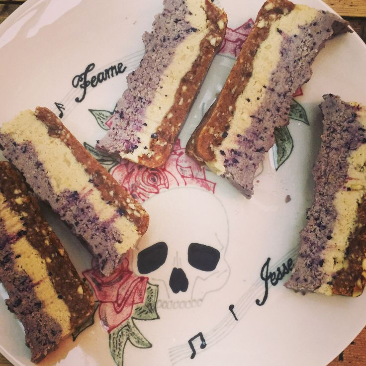 My home made blueberry and lemon vegan and refined sugar free bars. Heavenly