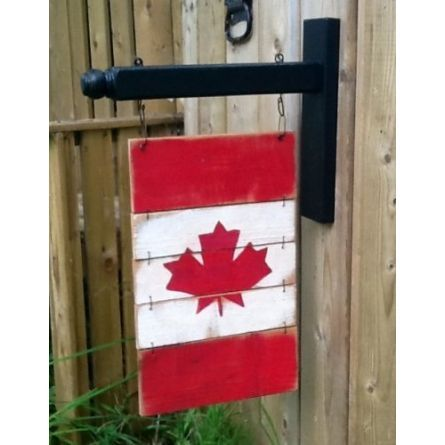 Home :: Canada Flag with Hanger - Small 4 or 5 pc by Rocking Horse Past $30