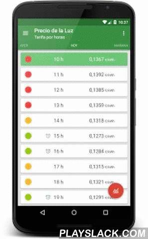Precio De La Luz  Android App - playslack.com ,  Precio de la Luz es una sencilla aplicación que le permitirá conocer en tiempo real el coste de la energía eléctrica que consume en su hogar o lugar de trabajo.Ajustando el consumo eléctrico de sus electrodomésticos o aparatos a las hora con menor coste, usted conseguirá ahorrar en la factura de la luz al final de mes.Además Precio de la Luz le avisará automáticamente de los momentos en los que la luz es más barata para que así ahorrar sea aún…