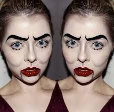 scary doll makeup -