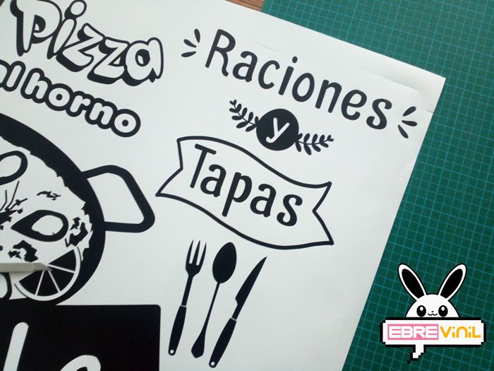 Vinilo Decorativo Raciones Y Tapas Para Bares Restaurantes Restaurantes Vinilos Bar