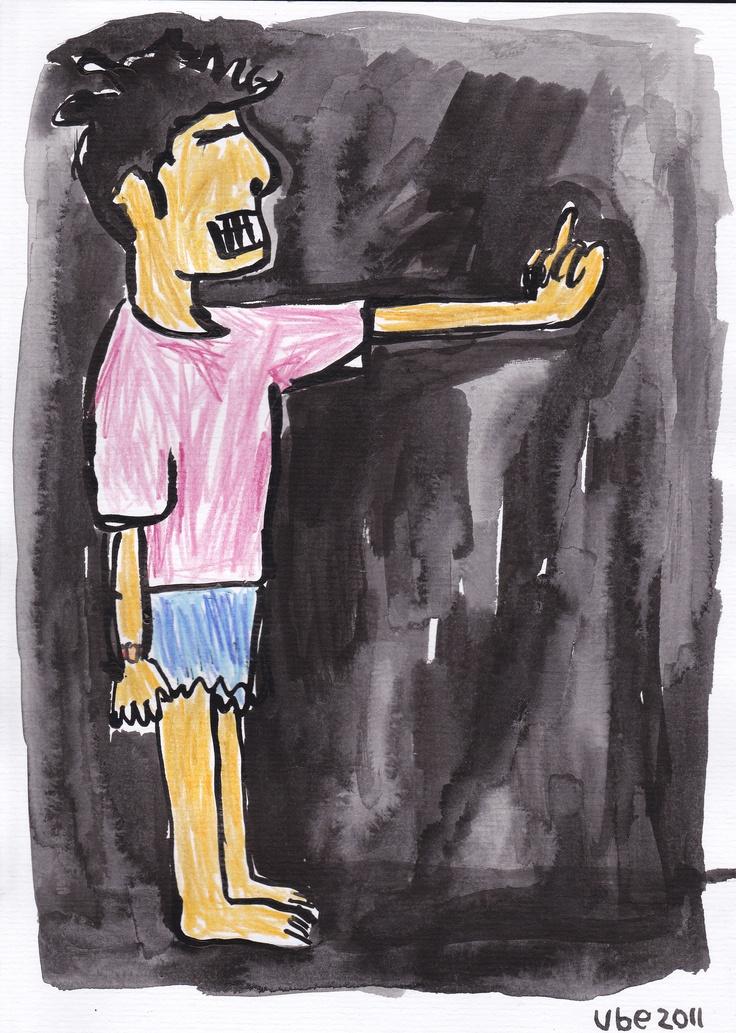 FAKK.tinta cina dan pensil warna di atas kertas A4.2011 .. (ube)