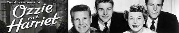 The Adventures of Ozzie and Harriet , airing on ABC from October 3, 1952 to September 3, 1966, starring the real life Nelson family. After a long run on radio, the show was brought to television.  The series starred Ozzie Nelson and his wife, singer Harriet Nelson, and their young sons, David Nelson and Eric Nelson, better known as Ricky.  it was never a top-ten hit, it became synonymous with the 1950s ideal American family life. It is the longest-running live-action sitcom in US TV history.