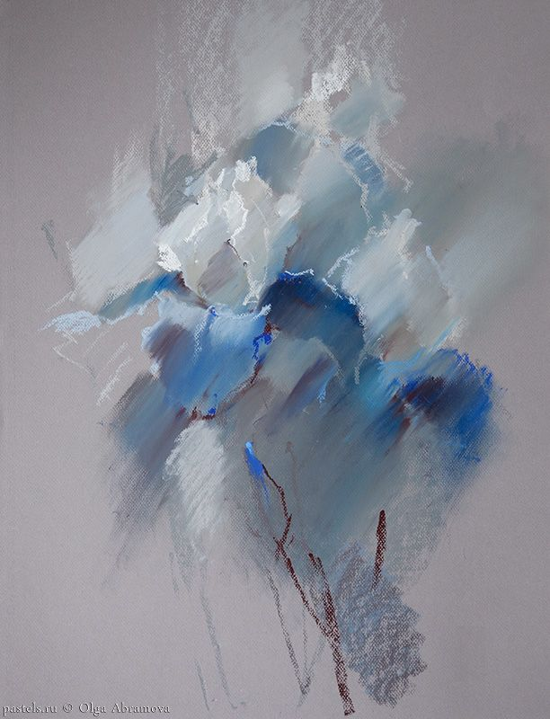 Soft Pastel Over Acrylic Paint