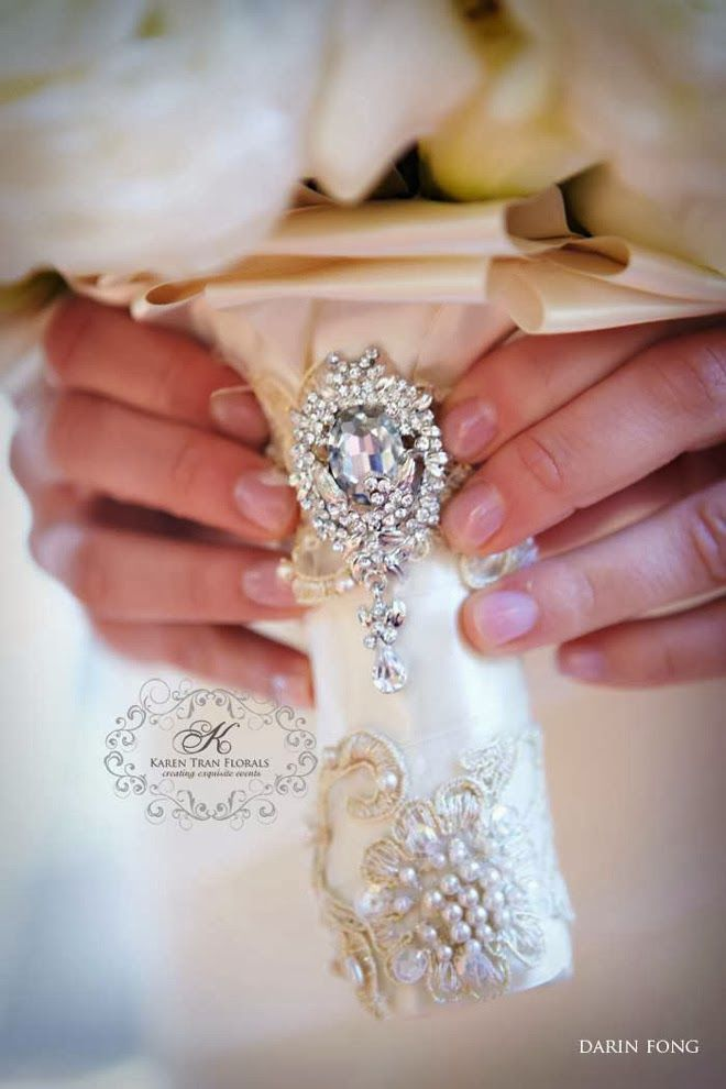 Wedding Bouquet Wraps, Holders and Handles Ideas Photography: Darin Fong, Design: Karen Tran