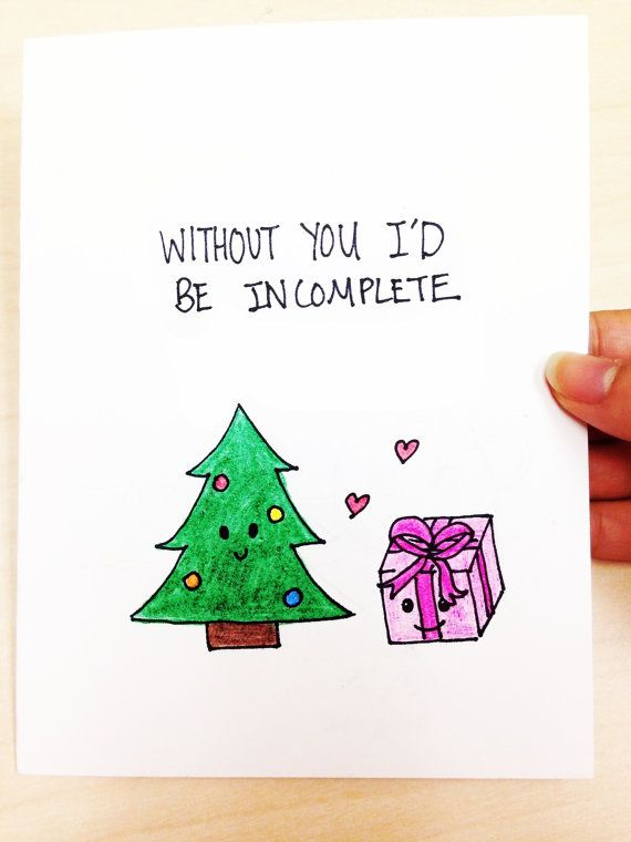 Without you I'd be incomplete Christmas card by LoveNCreativity