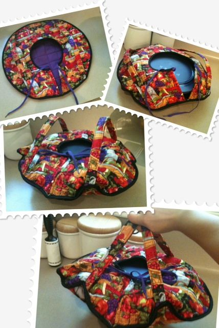 Round casserole carrier - tutorial link attached