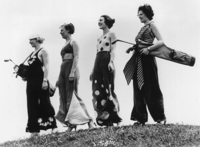 Bilder aus alten Golfzeiten! Ein kleiner Rückblick in die Zeit, als Damen noch Röcke trugen! ;-)