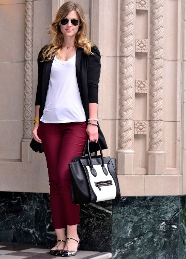 What to wear with Burgundy Pants