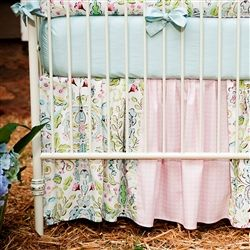Love Birds Crib Bedding | Baby Girl Crib Bedding in Love Birds | Carousel Designs