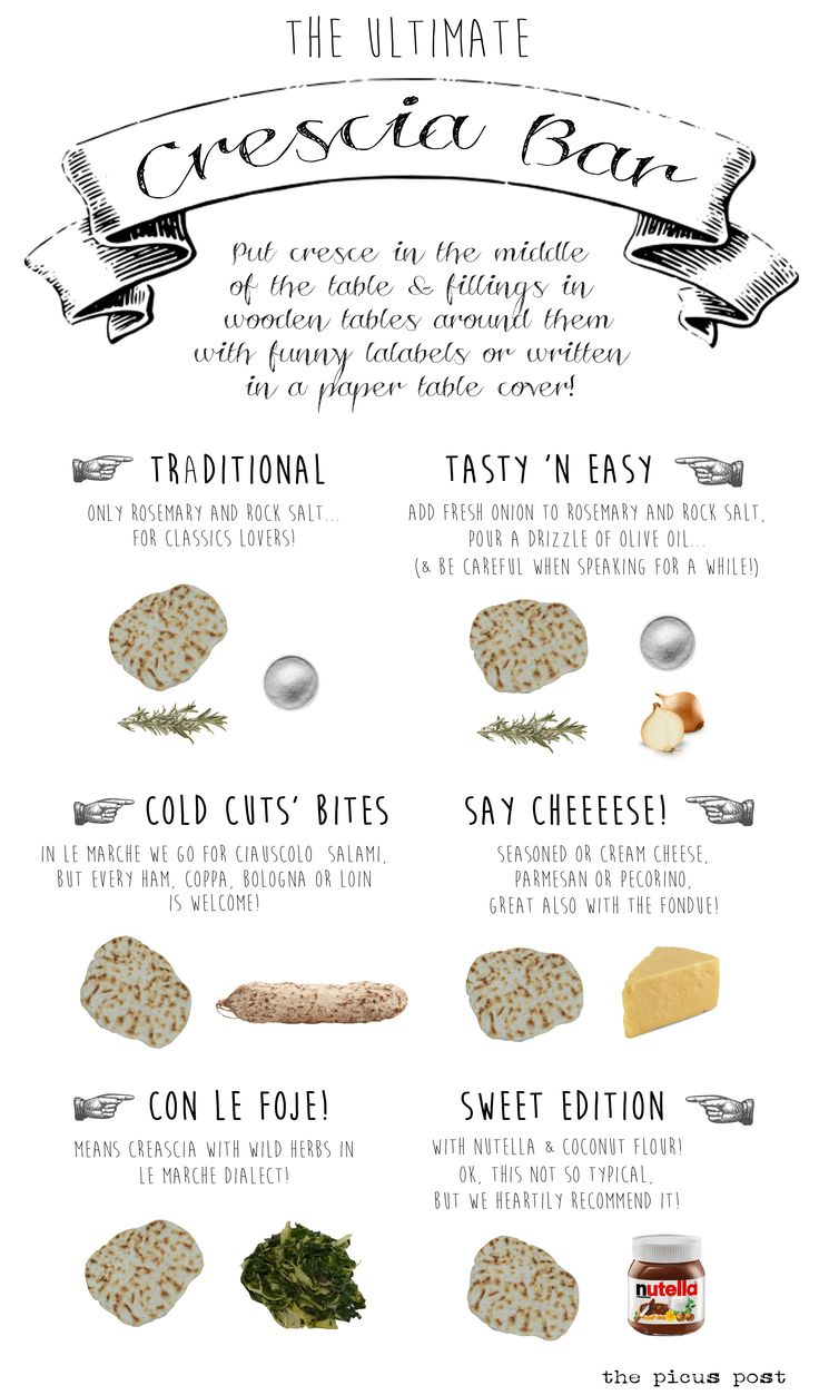 °recipe° Italian typical food CRESCIA BAR!  Easy way to make crescia and a fancy menù! CRESCIA is a traditional Marche region treat.  crescia bar le marche