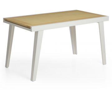 Base para mesa laca branca com vidro branco