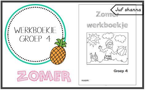 Thema zomer: werkboekje voor groep 4