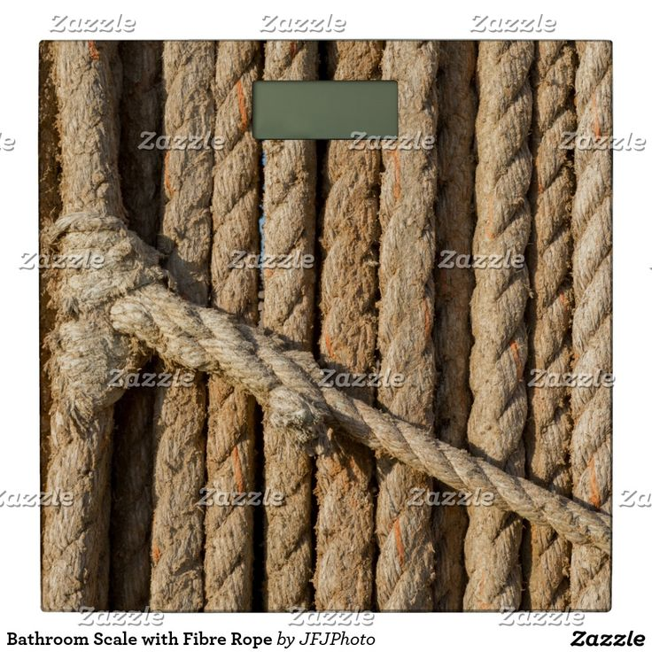 Bathroom Scale with Fibre Rope