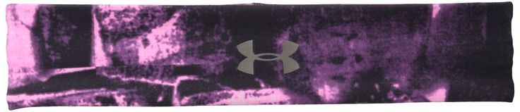 Under Armour Women's Studio Performance Printed Headband, Rebel Pink/Metallic Pewter, One Size. UA StudioLux fabric delivers super-soft luxurious feel. Breathable moisture-wicking fabric stays dry & light for all-day comfort. Grippy silicone strips underneath for secure, stay-put performance. Wide design delivers versatile fit & coverage. Centered UA logo.