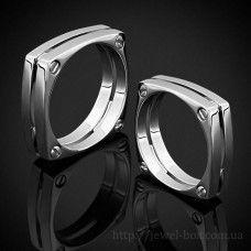 Квадратные обручальные кольца