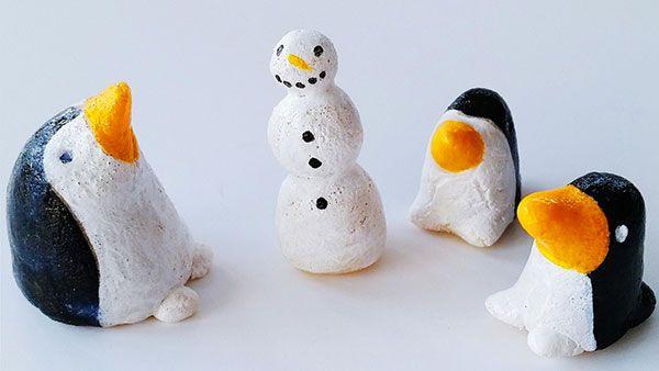 Lavoretto con pasta di sale: i pinguini