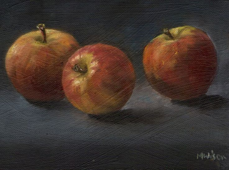 Oil Painting/ Marjorie Wilson/ Still Life -  Three Little Apples