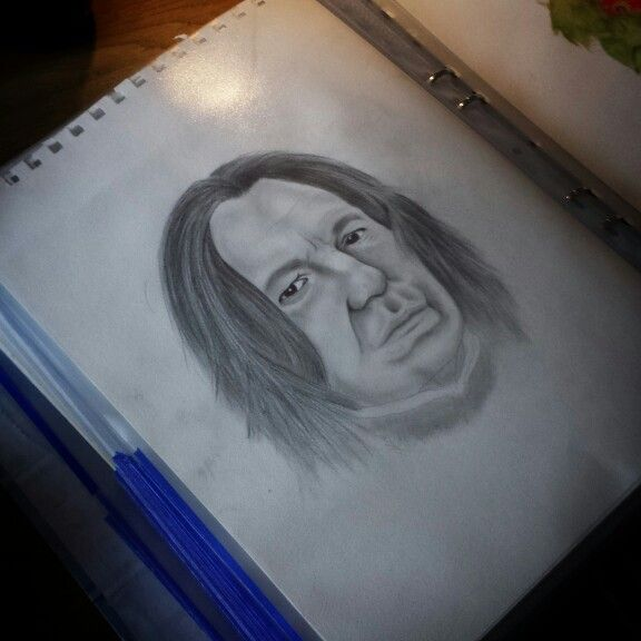 Snape pencil drawing by Madeleine Hoffman