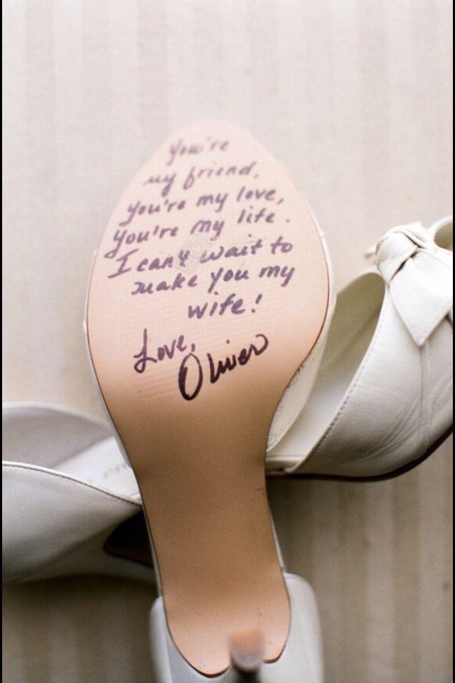 un petit message tout doux sous votre chaussures