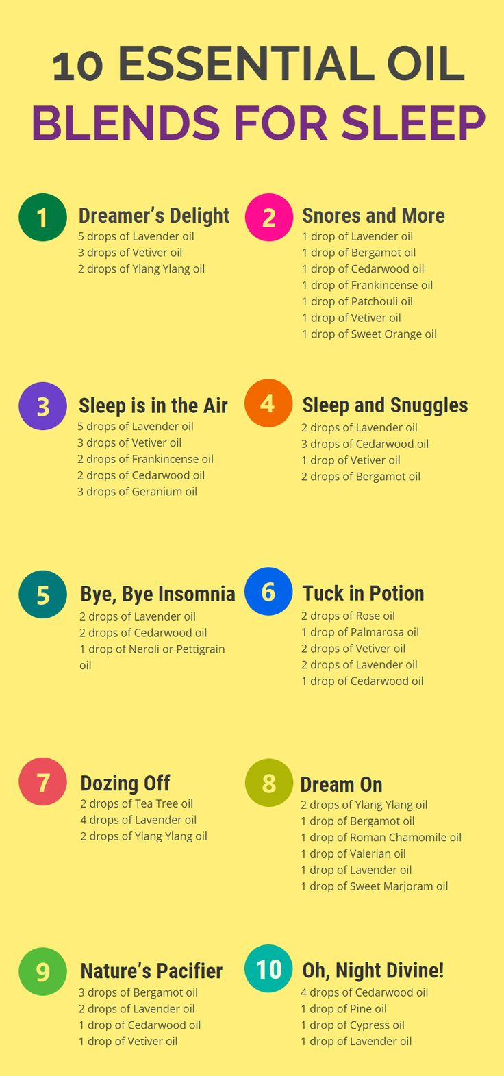 10 Essential Oil Blends for Sleep and Relaxation