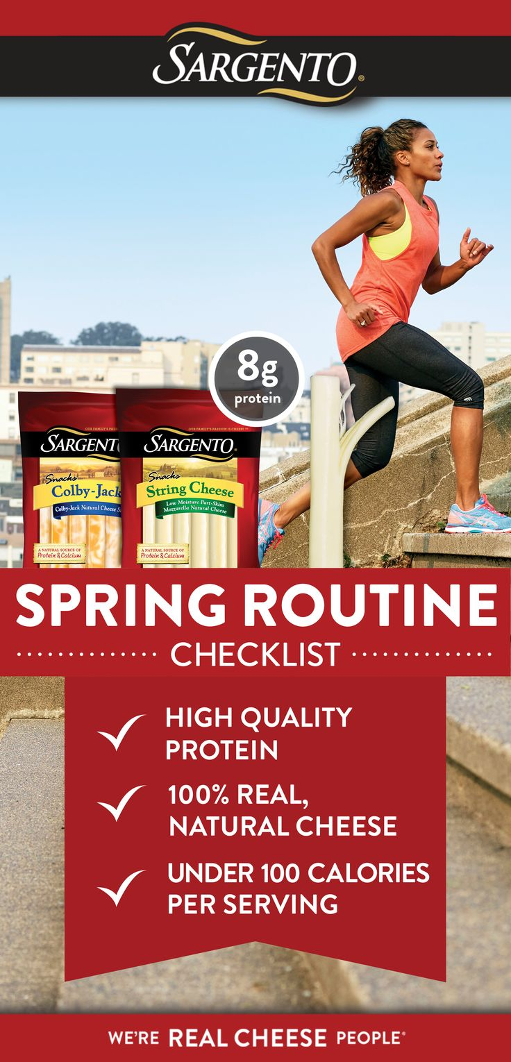 Getting a fresh start on nutritious snacking for spring? Sargento® String Cheese checks all the boxes with protein that outpaces the competition.