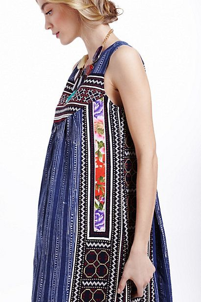Inoke Batik Dress #anthropologie