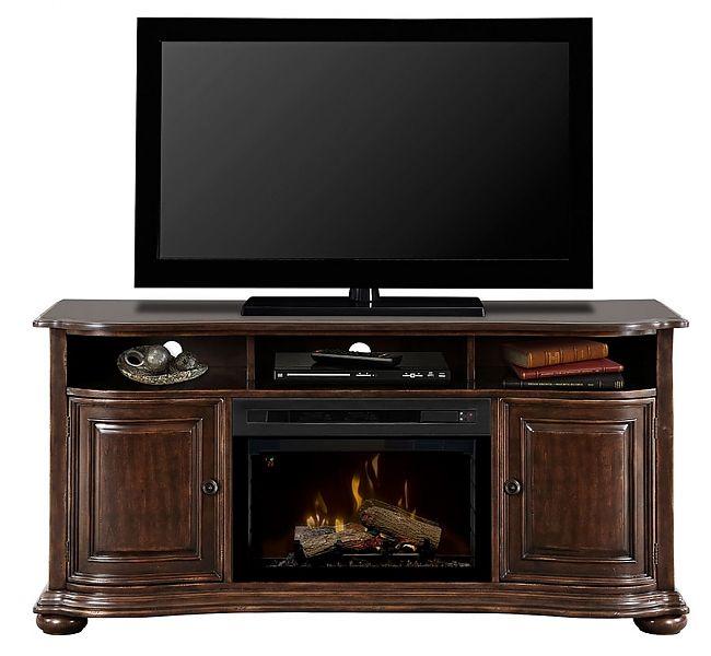 Dimplex Henderson Electric Fireplace Media Console Fireplace media center | seattleluxe.com