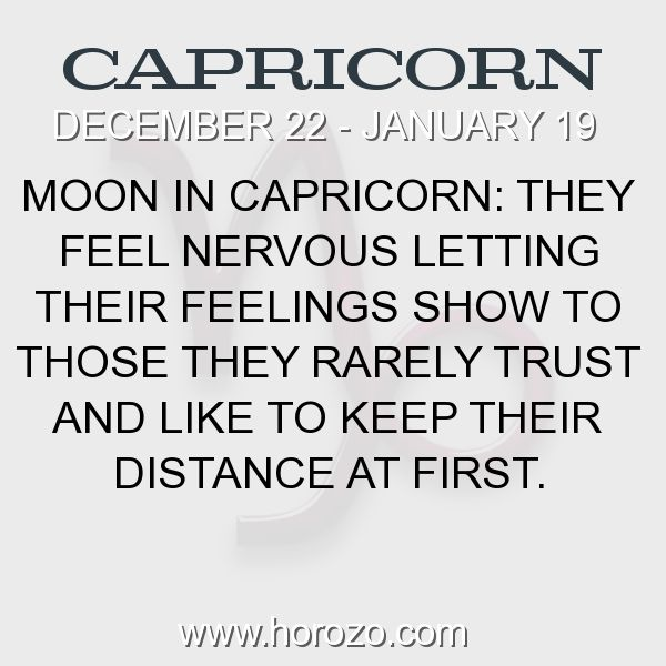 Fact about Capricorn: Moon in Capricorn: They feel nervous letting their... #capricorn, #capricornfact, #zodiac. More info here: https://www.horozo.com/blog/moon-in-capricorn-they-feel-nervous-letting-their/ Astrology dating site: https://www.horozo.com