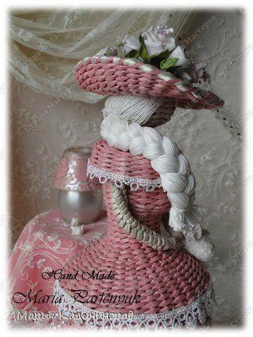 Поделка изделие Вязание крючком Плетение 3 года моему хобби Трубочки бумажные фото 11