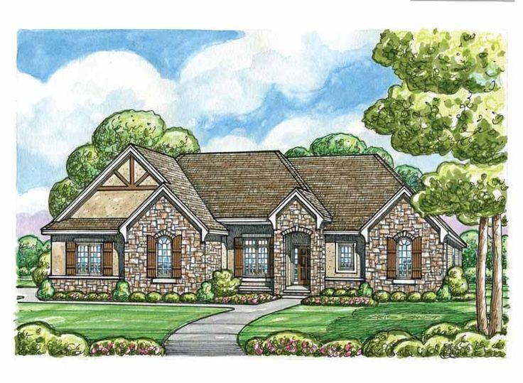 english country style house plans 2485 square foot home 1 story 2 bedroom and 2 bath 3 garage stalls by monster house plans plan