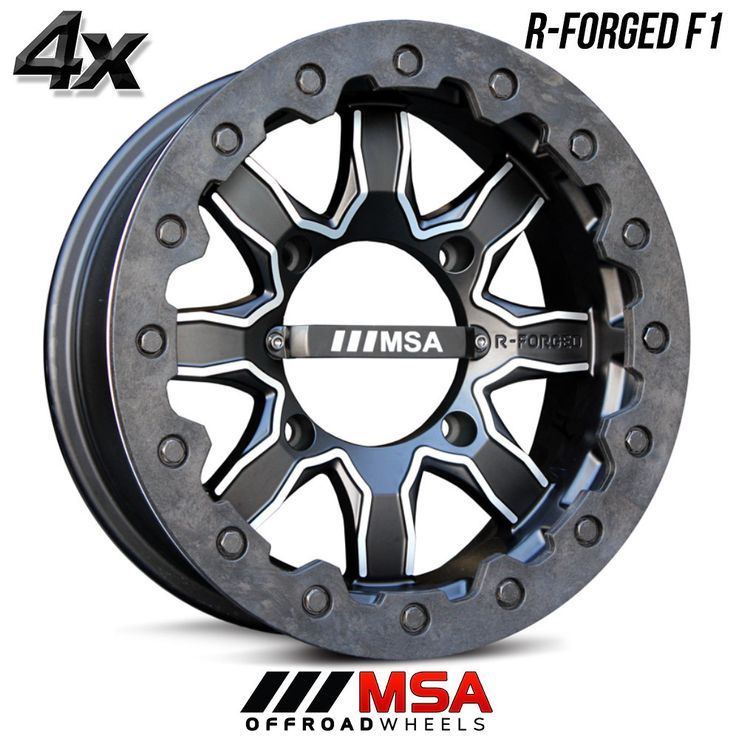 4 MSA R-Forged F1 14x7 4x110.00 Black OFST:0mm 14 Inch Rims 14X7 Wheels
