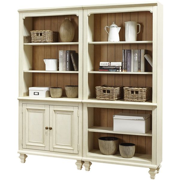 Emery Park Coronado 2-piece Bookcase Wall Set ($1,276) ❤ liked on Polyvore featuring home, furniture, storage & shelves, bookcases, beige, off white bookcase, wall mounted book shelves, oversized furniture, wall bookshelves and storage furniture