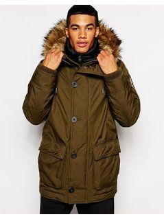 Abercrombie&Fitch Parka with Hood - Green