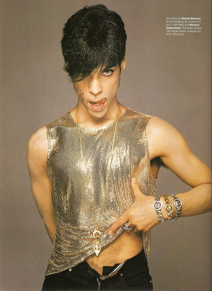 Prince for Versace - Winter 1995, by Richard Avedon in The Empress of Dress