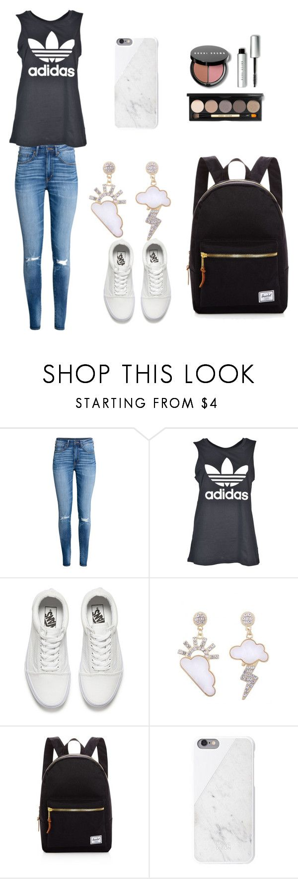 Untitled #43 by palaghia-teona on Polyvore featuring adidas, H&M, Herschel Supply Co., Vans and Bobbi Brown Cosmetics