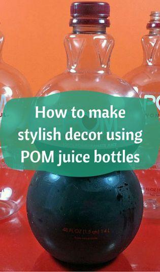 How To Make Stylish Decor Using Pom Juice Bottles Diy Lamparas