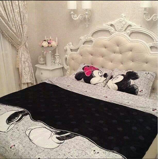 #Quarto de Casal Colcha Mickey e Minnie