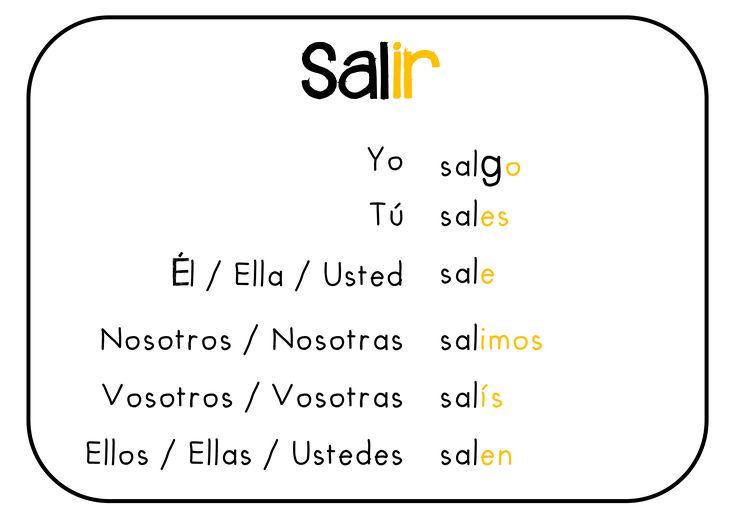 image gallery salir verbs