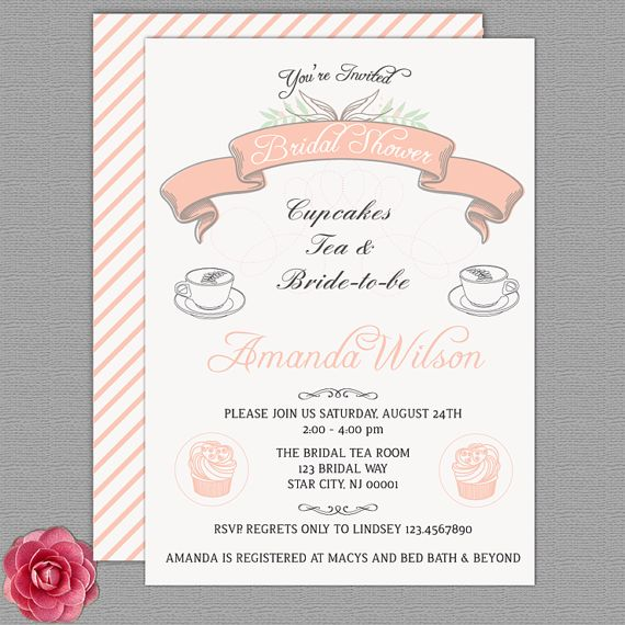 22 Best Tea Party Bridal Shower Invitations Images On