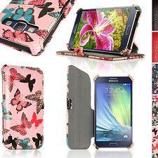 Farfalla Disegno Ecopelle Flip Custodia per Samsung Galaxy A3 Case Stand Cover