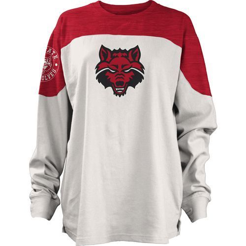 Three Squared Juniors' Arkansas State University Cannondale Long Sleeve T-shirt (Red, Size Medium) - NCAA Licensed Product, NCAA Women's at Academy...