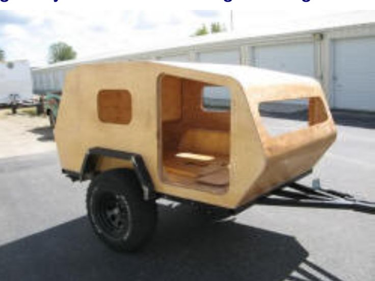 Cool homemade offroad Teardrop Camper