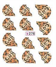 045 Nailart Nagelsticker 12 Aufkleber für Nägel Französisch Zebra Leopard