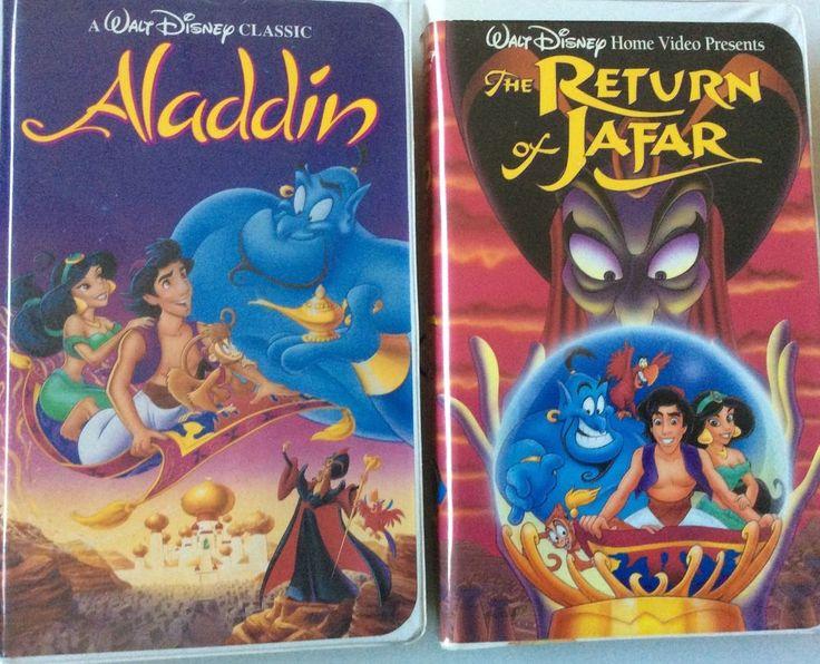 Walt Disney S Classic Aladdin Vhs Video Tape With Hard