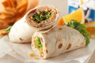 Turkey Tortilla Wrap-I recently turned my kids on to wraps.  This sounds awesomely good!